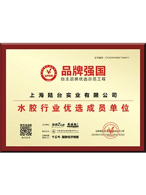 品牌强国水胶行业优选成员单位